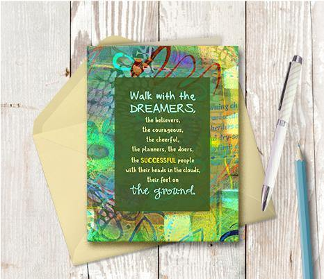 0579 Walk With The Dreamers Note Card