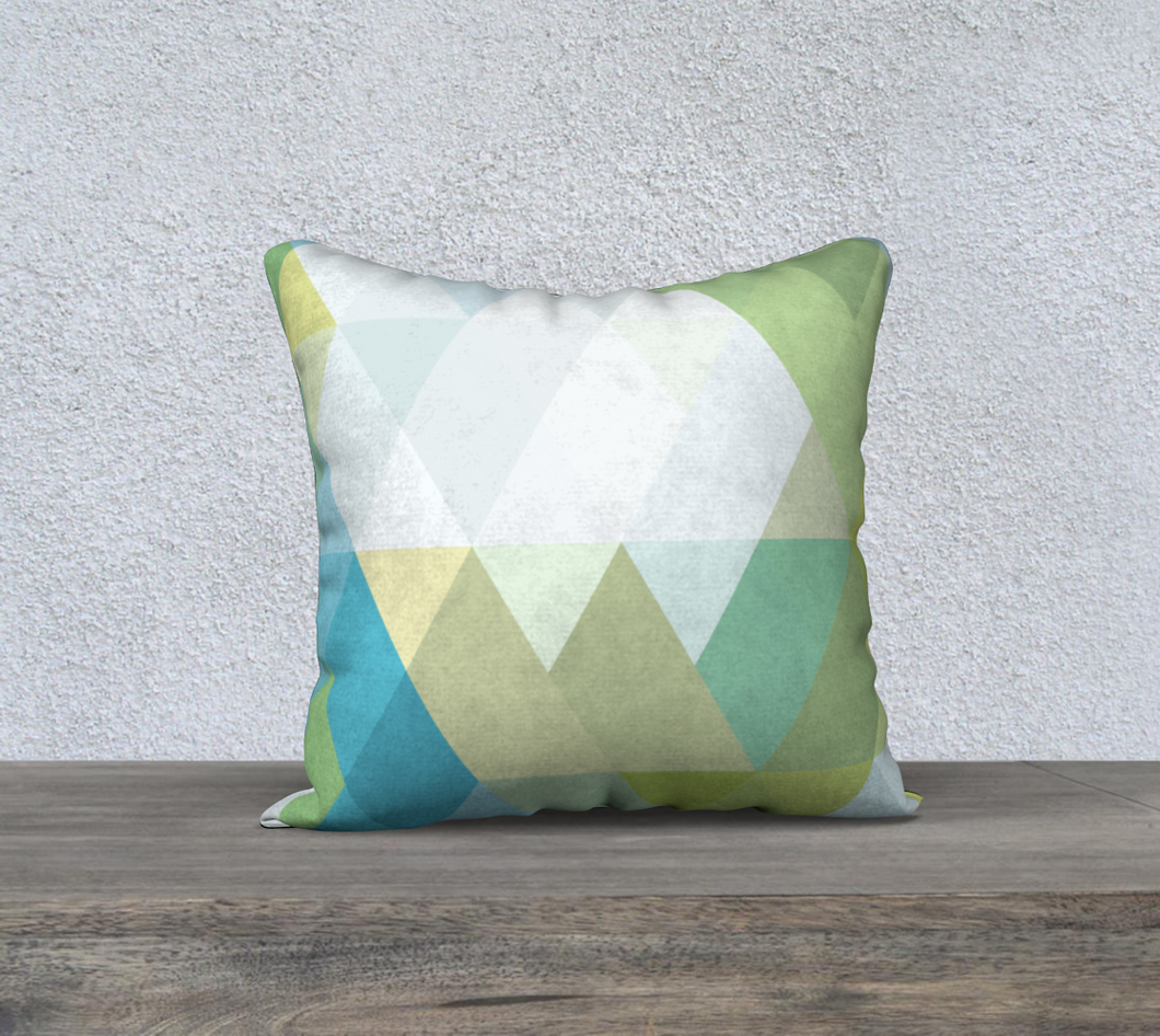 Support Beams Light Greens and Blues 2 Throw Pillow by Deloresart