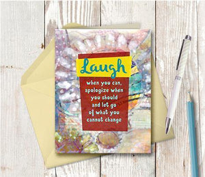 0580 Laugh When You Can Note Card
