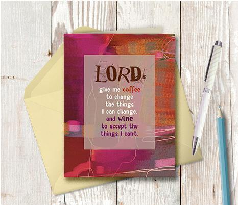 0589 Lord Give Me Coffee Note Card