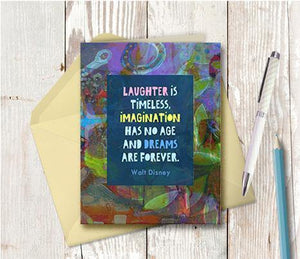 0590 Disney Laughter Is Timeless Note Card - deloresartcanada