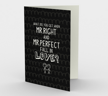 1405 When Mr. Right and Mr. Perfect Fall in Love Card by Deloresart