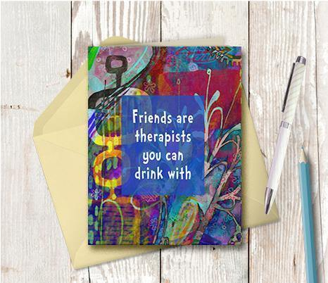 0594 Friends Therapists Note Card