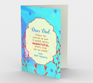 1427 Dear Dad - From Your Favorite Card by Deloresart