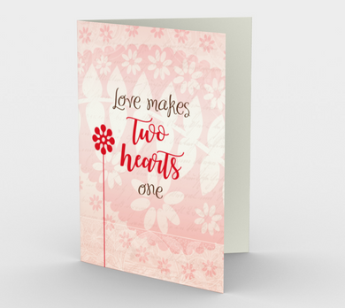 0280.Love Makes Two Hearts One  Card by DeloresArt