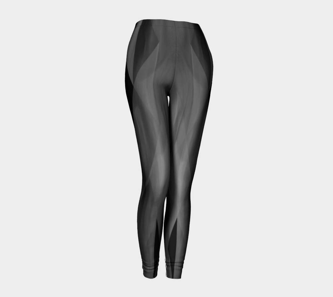 Be Still Black Leggings by Deloresart