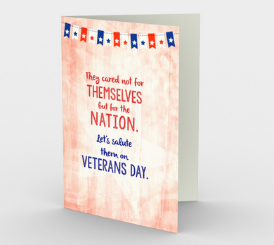 1363 Salute Them On Veterans Day Card by Deloresart