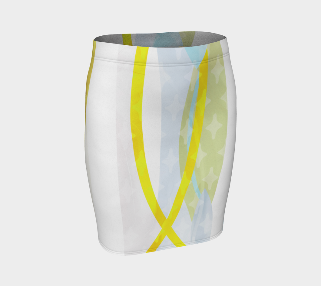 Side by Side Fitted Skirt by Deloresart