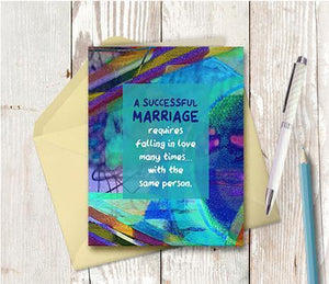 0600 A Successful Marriage Note Card - deloresartcanada