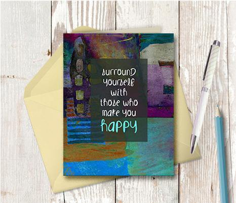 0604 Surround Your Self Note Card