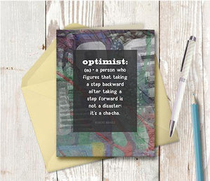 0606 Optimist Note Card - deloresartcanada