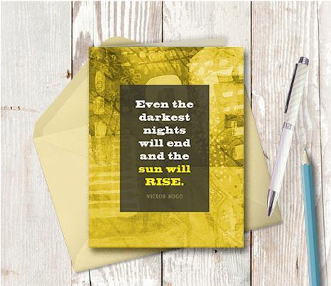 0607 Sun Will Rise Note Card