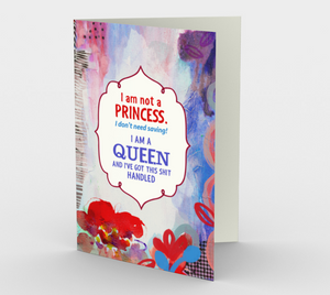 0939.I Am Not a Princess  Card by DeloresArt
