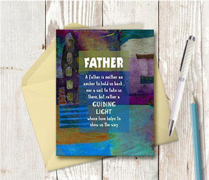 0608 Father Guiding Light Note Card