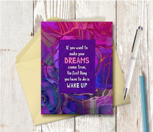 0609 Wake Up Note Card