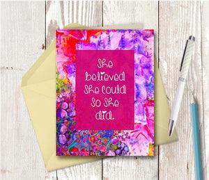 0614 She Believed Note Card