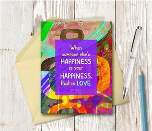 0616  Someone Elses Happiness Note Card