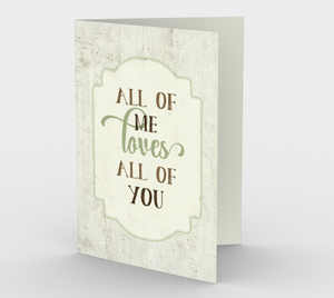 1268. All Of Me Loves All Of You v.3  Card by DeloresArt