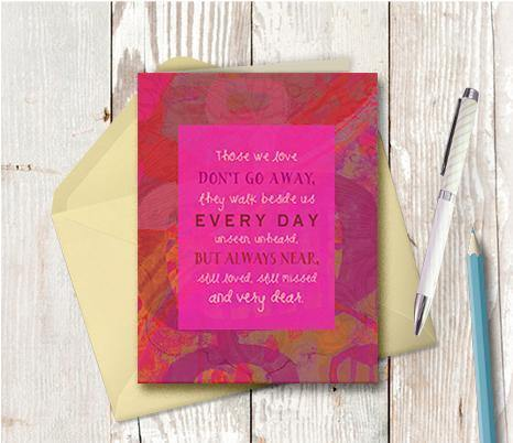 0618 Those We Love Sympathy Note Card