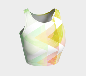 Obtuse Romance Crop Top by Deloresart