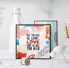0631 All You Need Is Love Art - deloresartcanada