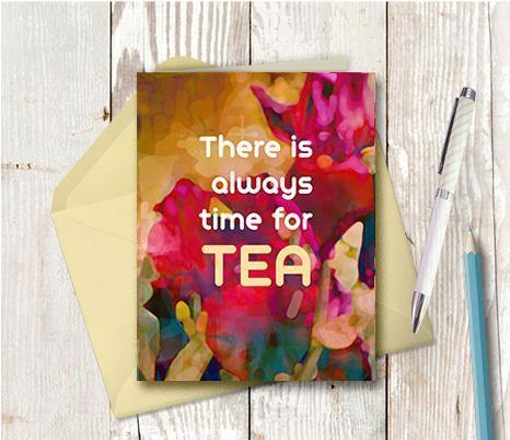 0637 Time For Tea Note Card