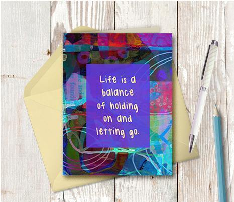 0641 Life Is A Balance Note Card