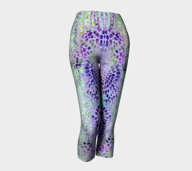 Earth Message Purple Capris by Deloresart