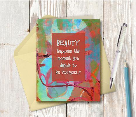 0642 Be Yourself Coco Chanel Note Card
