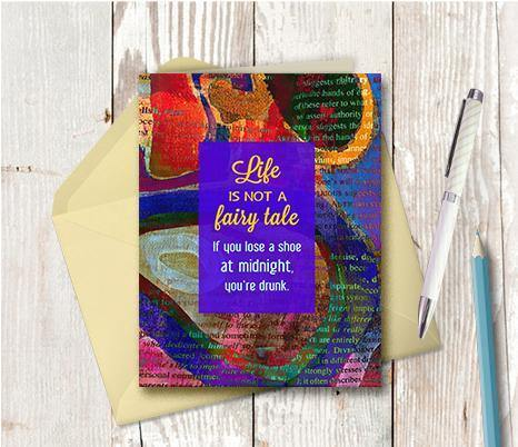 0643 Life Is Not A Fairytale Note Card