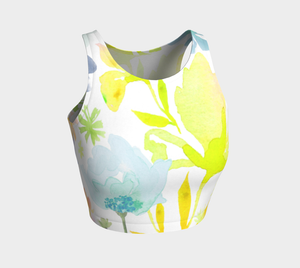Dreamy Garden Crop Top by Deloresart