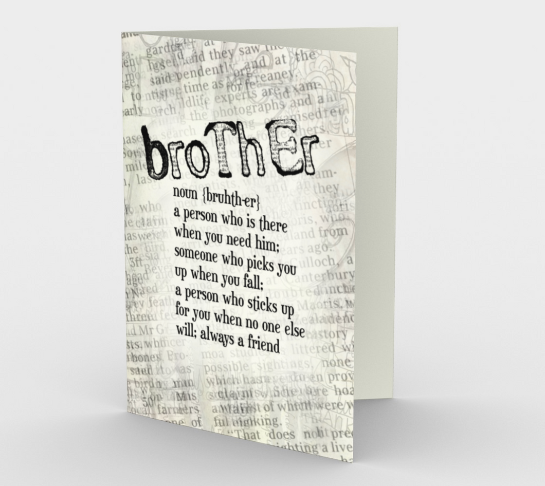 0532 Brother - Noun  Card by DeloresArt