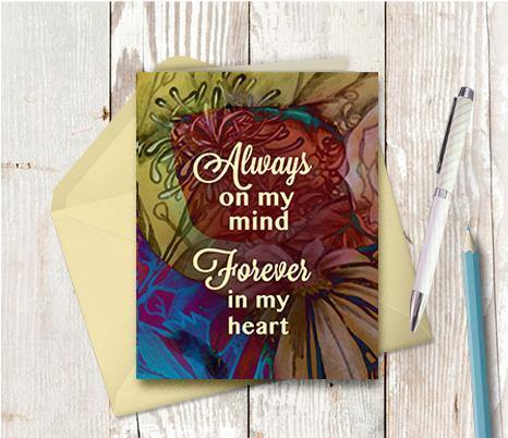0655 Always On My Mind Note Card - deloresartcanada