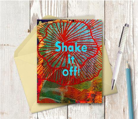 0656 Shake It Off Note Card