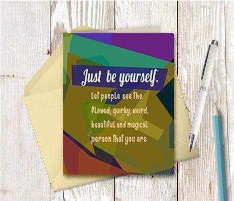 0658 Be Yourself Note Card