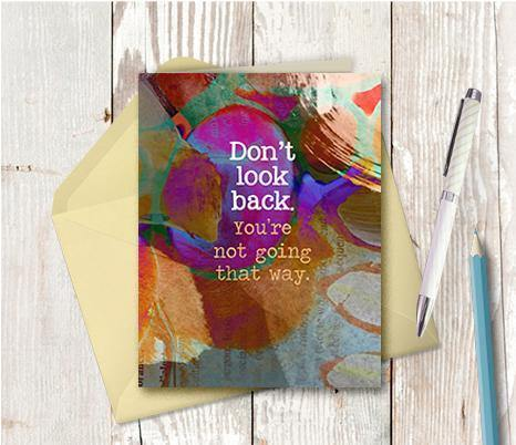 0660  Do Not Look Back Note Card