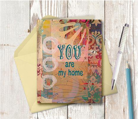 0663 You Are My Home Note Card