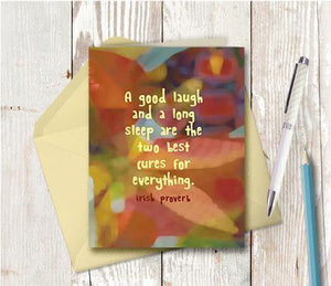 0666 Good Laugh Long Sleep Note Card