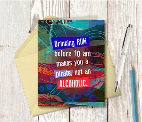 0673 Rum Pirate Note Card
