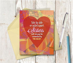 0676 Sisters Side By Side Note Card