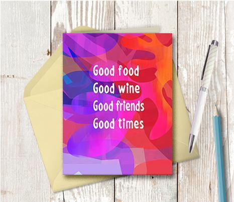 0682  Good Food Good Times Note Card