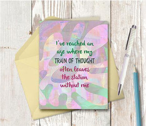 0690 Train Of Thought Note Card