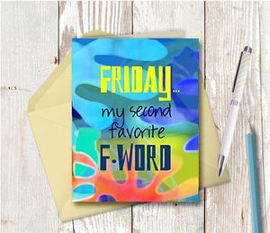 0691 F Word Note Card