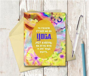 0693 Yoga Note Card