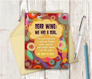 0694 Dear Wine Note Card