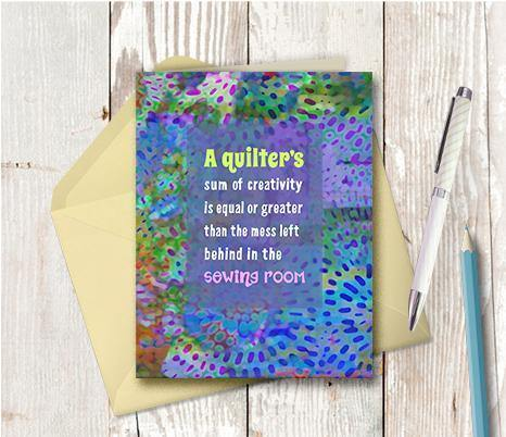 0699 Quilters Note Card - deloresartcanada