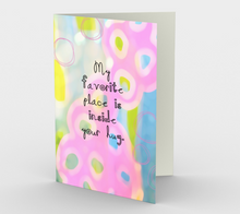 0707.My Favourite Place is Inside Your Hug  Card by DeloresArt