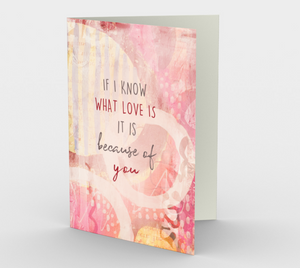 1360 If I Know What Love Is Card by Deloresart