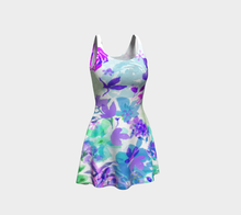 Victoria Blooms Violet Flare Dress by Deloresart