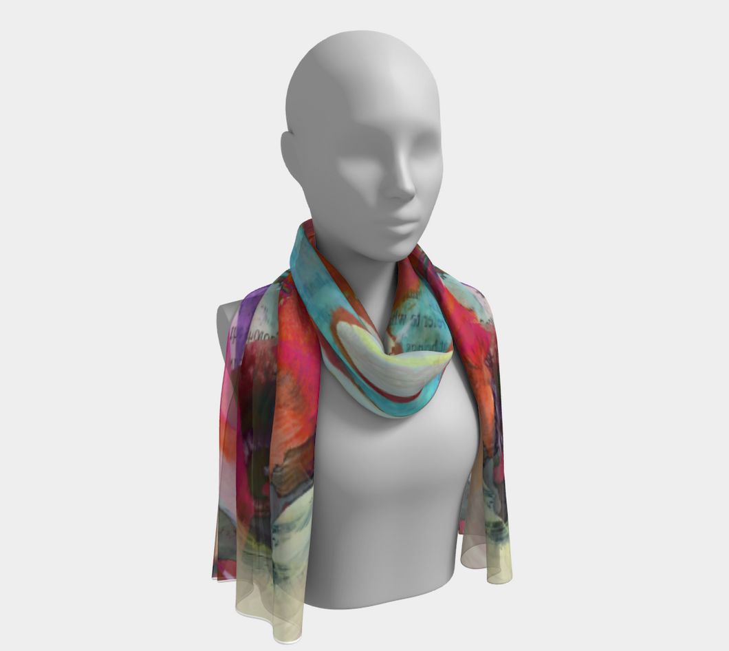 Distant Shores Scarf by Deloresart